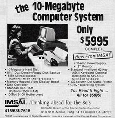 In the #1980s, a 10 Megabyte #computer cost almost $6,000. Oh how times have changed. #technology #history