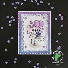 Craftin Desert Divas, Elephant Birthday, Spectrum Noir, Wink of Stella, Purple