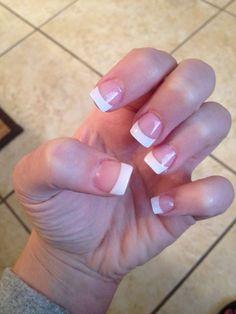 French tip nails, short fake nails, french tips, acrylic french manicure,. Short French Tip Nails, Short Fake Nails, Short Nails Shellac, Acrylic French Manicure, French Manicures, White Tip Nails, Pink Nails, French Tip Nail Designs, Nagel Hacks