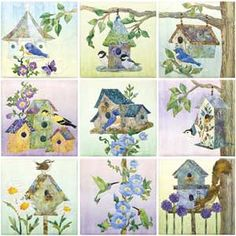 Birdhouse Quilt ... I'd love to buy the kit from Keepsake Quilting ... with all the fabric, etc. ... another quilt I'd really like to make