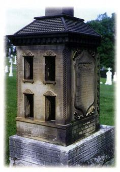 Built by Stone Mason John Keating at the deaths of his two children and niece who died between 1868 and 1878, it included furniture scaled to size.