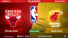 ¡Disfruta del fin de semana en compañia de Playdoit y la NBA: Chicgo Bulls vs Miami Heat! 🏀 Regístrate ya en Playdoit y descubre el mejor sitio de apuestas en línea 😉 > http://www.playdoit.com