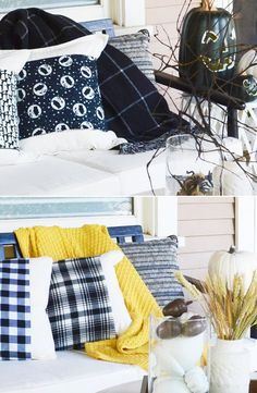 Fall porch goals thanks to @oleanderandpalm. Make these 4 rustic ideas for your outdoor porch today! #decorations #diy #porch #crafts Home Decor Bedroom, Diy Home Decor, Diy Porch, Rustic Interiors, Rustic Decor, Decorations, Goals, Crafts, Outdoor