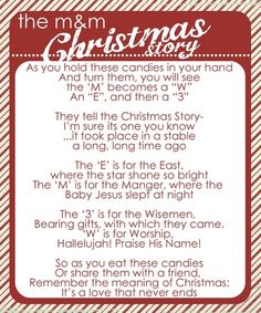 "The M Christmas story with free printable. I will use if for my ""Twelve Days of Christmas"". by Susan Bragg"