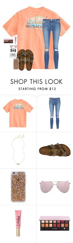 """""""Feels so good outside😊🤗"""" by christyaphan ❤ liked on Polyvore featuring Frame, Kendra Scott, Birkenstock, Case-Mate and Le Specs"""