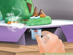 Image titled Make a Fire Breathing Dragon Cake Step 19