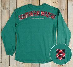 Rebecca Tartan Jersey in Dark Green Lakeside Cotton, Marley Lilly, Southern Marsh, Monogram Gifts, Tartan, Jewelry Gifts, Dark, Sweatshirts, Green
