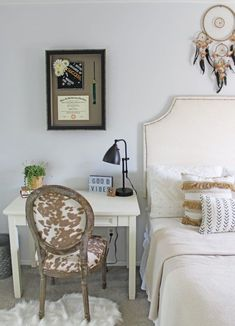Neutral Bedroom, Custom Framing, Property Brothers Scott Living Collection