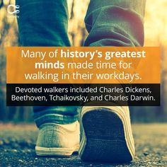 Many Of History's Greatest Minds Always Made Time For Walk Breaks Discovery Channel Shows, Great Minds Think Alike, Your Boss, Charles Darwin, Make Time, Life Inspiration, Things To Know, Curiosity, Healthy Life