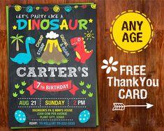 Dinosaur Invitation Dinosaur Birthday by GalaPartyPrintable