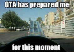 Top Hilarious Grand Theft Auto Memes - GTA has prepared me for this moment Funny Video Game Memes, Funny Gaming Memes, Funny Games, Video Games, Gamer Jokes, Pc Memes, Ps4, Playstation, Xbox