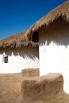 Traditional Mud Houses on Display at Shilpgram Crafts Village, Udaipur, Rajasthan, India