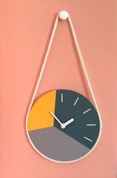 wall clock design 391742867590802680 - Hanging wall clock Scandi wooden wall decor Colorful wall art image 1 Source by jjulianatvargma Wall Clock Ikea, Wall Clock Nursery, Diy Clock, Clock Decor, Wooden Wall Decor, Wooden Clock, Wooden Boxes, Plywood Furniture, Furniture Design