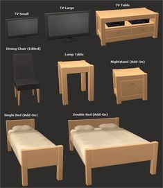 Veranka's TS2 Downloads | Biscay Set DOWNLOAD Bookcases, Shelves and TV´s...