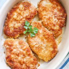 Breaded Baked Pork Chops Pork Tenderloin Recipes, Pork Chop Recipes, Meat Recipes, Chicken Recipes, Cooking Recipes, Pork Ham, Baked Pork, Breaded Pork Chops, Salads