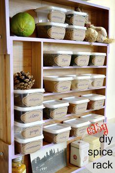 DIY Spice Rack on the cheap!
