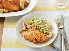 Chicken Piccata with Lemon, Capers and Artichoke Hearts Recipe : Robin Miller : Food Network - FoodNetwork.com