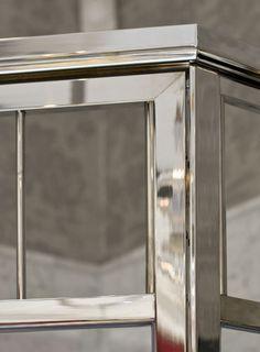Master Bath, Home Decor, Shower Doors, Elegant Design, Brass Frame, Doors, Mirror
