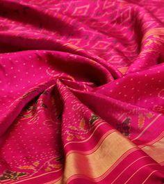 Pink Pure Silk Patola Saree wow wow wow!!!!!