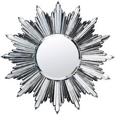 Baccarat Heritage Sun Mirror (7681170 RSD) ❤ liked on Polyvore featuring home, home decor, mirrors, decor, clear, sun mirror, beveled mirror and handmade home decor