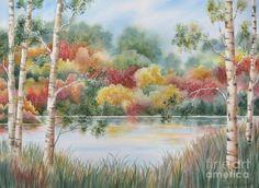 Shades Of Autumn Painting  - Shades Of Autumn Fine Art Print