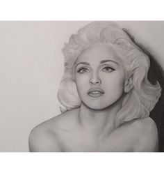 Drawing of Madonna by Melissa Greco