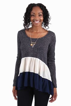 Sparkle Of Interest Navy Sweater