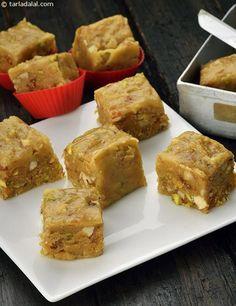Dry Fruit Barfi recipe | Mithai Recipes | by Tarla Dalal | Tarladalal.com | #2056