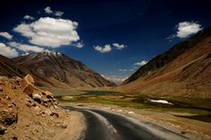 A Road to Nowhere - This photograph was taken in Leh Ladakh during Journey to Pangong Lake