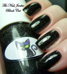 The Nail Junkie Black Cat and Devil and a Giveaway! | Pointless Cafe