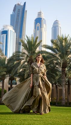 The safari-themed Spring 2015 RL Collection complemented the beautiful and dramatic backdrop of Dubai