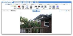 """FotoFlexer: Another online photo editor which calls itself the """"world's most advanced online image editor."""" From this photo editor's home screen, simply upload a photo to begin working on it. Options include basic edits like resizing and rotating, tint edits to add filters to the picture, layers, decorations such as text or borders, and more."""