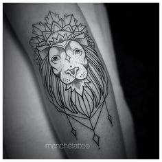 Fresh WTFDotworkTattoo Find Fresh from the Web #lion #liontattoo #linework…