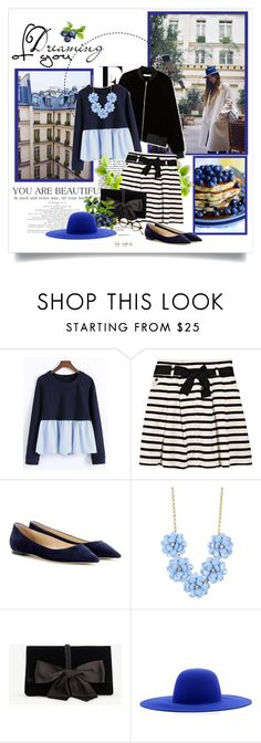 """""""Dreaming of You"""" by kimbers-242 ❤ liked on Polyvore featuring Nicki Minaj, WithChic, Sonia by Sonia Rykiel, Jimmy Choo, J.Crew, Ann Taylor, Études and Selima Optique"""