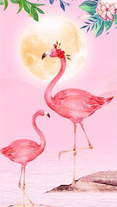 Pink Pineapple Wallpaper, Flamingo Wallpaper, Pink Wallpaper Iphone, Cute Wallpaper Backgrounds, Flamingo Bird, Pink Flamingos, Flamingo Pictures, Memorial Day Sales, Girly Drawings