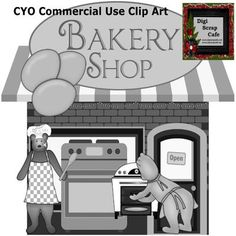 Bakery Bears Cook Kitchen scrapbook transparent clip art graphics from DigiScrapCafe on TeachersNotebook.com -  (1 page)  - Bakery Bears Cook Kitchen scrapbook transparent clip art graphics commercial use png