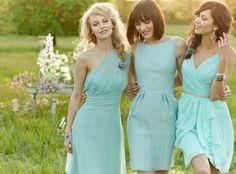 Free shipping one shoulder sleeveless short mint green bridesmaid dresses under 100