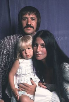 Cher and Sonny Bono. Wasn't her daughter, her son of now, very cute little girl?