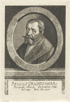 Johann Friedrich Leonard | Portret van Paulus Grundherr, Johann Friedrich Leonard, 1643 - 1680 | Portret van Paulus Grundherr, senator te Neurenberg.