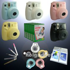 Fujifilm Instax Mini 8 Camera Fuji Instant Polaroid / Film / Close Up Lens / Pen #Fujifilm