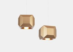 One Light Only (OLO) is a collection of striking pendant lights that draw on Lee Broom's fashion background. Characterised by its gem-like faceted exterior, OLO references both Art Deco jewellery and late fashion photography. Lee Broom, Pendant Lighting, Chandelier, Fashion Background, Gold Interior, Art Deco Jewelry, One Light, Beautiful Homes, Glow