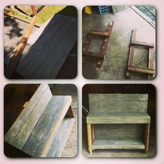 DIY wooden bench