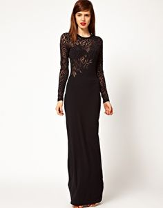 Jonathan Saunders Devore Long Sleeve Maxi Dress