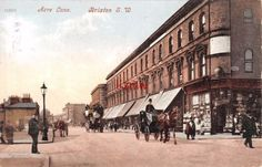 SW-LONDON-BRIXTON-ACRE-LANE-HORSE-BUS-HORSE-CAB-c.1913. My Ancestors, Brixton, Ww2, Acre, Street View, Horses, London, Prints, Mornings