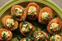 Buffalo Fried Deviled Eggs
