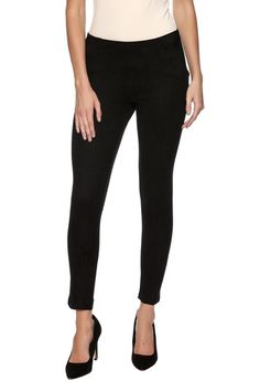 7d57cb6023 Bio Solid Suede Mix Leggings from Naples by Bio New York — Shoptiques Black  Leggings,
