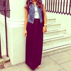 Dresses & Skirts - SMALL BLACK MAXI SKIRT !! HP 8/21