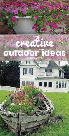 Creative Outdoor Ideas to try. Great DIY ideas for the home and outdoor space. Saving this!