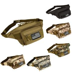 Protector Plus Military Fanny Pack Tactical Waist Bag Pack Waterproof Hip Belt Bag Pouch for Hiking Climbing Outdoor Bumbag 145