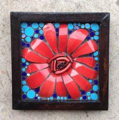 3d mosaic flower art by Nikki Murray-Mason (www.nikkiinc.com)